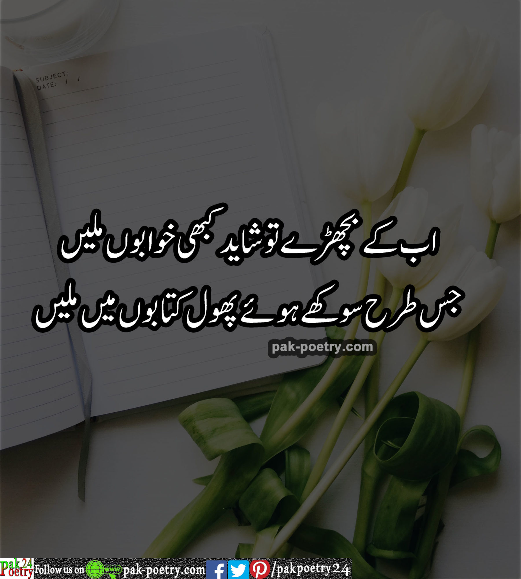 love poetry urdu - ab ky bichry shayed kbhi khawabon