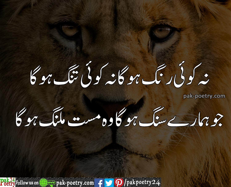 attitude poetry, urdu poetry